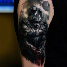 Capture the Empire's boss with the top 100 best Darth Vader tattoo designs for men. Explore cool Star Wars ink ideas with looming force and lightsabers. Cool Tattoos For Guys, Great Tattoos, Body Art Tattoos, Sleeve Tattoos, Tatoos, Tribal Shoulder Tattoos, Mens Shoulder Tattoo, Tribal Tattoos, War Tattoo
