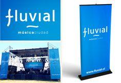 Diseño de Marca y aplicaciones FESTIVAL FLUVIAL, MusicaCiudad.