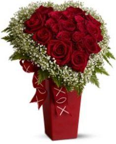 Valentines Day flower arrangement