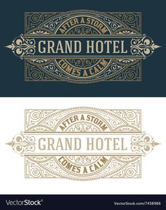 Find Vintage Logo Template Hotel Restaurant Business stock images in HD and millions of other royalty-free stock photos, illustrations and vectors in the Shutterstock collection. Thousands of new, high-quality pictures added every day. Interior Logo, Badge Design, Vintage Typography, Logo Design Inspiration, Lettering Design, Business Logo, Logo Templates, Logos, Book Design