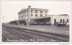 RP: Canadian Pacific Railroad Train Station , REGINA , Saskatchewan , Canada , 00-10s - Delcampe.com