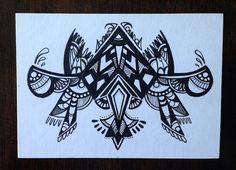 """Switch Abstraction"" Original drawing by hook&eye design Ink on paper 2.5"" x 3.5"" (6.35cm x 8.89cm)"