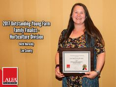 Horticulture Division OYFF winner and finalist Beth Hornsby of Lee County Young Farmers, Create Awareness, Horticulture, Division, Alabama, Conference, Leadership, Tours, Lawn And Garden