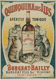 cool Quinquina des Iles vintage advertising poster (1890)...