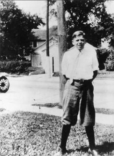 Ronald Reagan, 12 Years Old, 1923. Before he  became a movie star  and then, he went on to become the President  of  the United States of America.