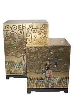 Gustav Klimt 2-er Set Schränke Der Lebensbaum Art for Living exklusive Schränke…
