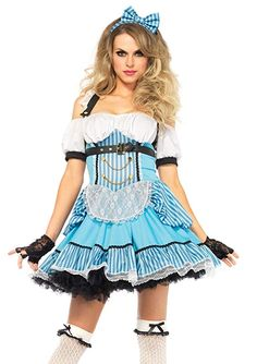e81fda3e6b Rebel Alice Wonderland Fairy Tale Fancy Dress Up Halloween Sexy Adult  Costume