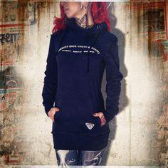 YAKUZA - DÁMSKÉ OBLEČENÍ | Dámské mikiny | Yakuza dámská mikina Long GLHOB 525 black | Warrior Store | streetwear, bojové sporty