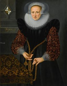 Dutch School, 1598 PORTRAIT OF AEFGE GIJBLAND (1581-1625) inscribed and dated upper left: AETATIS.17/Ao 1598 and charged with a coat-of-arms oil on panel