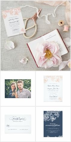 Chic Lace & Floral Pastel Pretty WEDDING SET> Get Your Stamps, Invitations, RSVP, Address Labels & More with one click! YOU CHOOSE~ Easy online ordering and customizing! ** Save 15% or more with site sales and coupon codes!  #wedding #lace #chic #floral