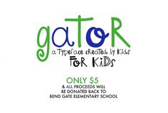 Gator - A font BY kids FOR kids by OnTheSpotStudio on @creativemarket