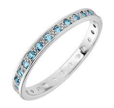 10K Gold Blue Topaz Ring