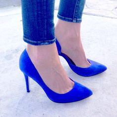 My blue Copertina pumps with denim skinnies. Doesn't get better.