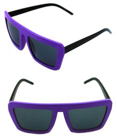 8d31823a429 Details about Men s Women s Square Shape Retro Vintage Sunglasses Matte  Black purple Hip Hop