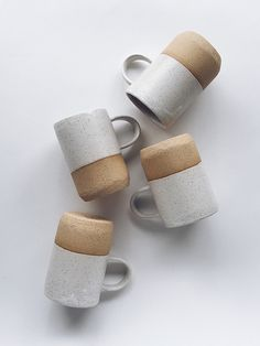Gorgeous Speckled Tan Ceramic Mugs from Arrow + Sage
