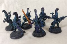 Aeldari WiP: Using a Midwinter Minis process - Stepping Between Games Model One, Color Effect, Accent Colors, Elves, Minis, Colours, Colour Effect, Miniatures, Fairies