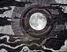 "lesstalkmoreillustration: "" Moon Glow Tapestry By Brenda Erickson *More Things & Stuff """
