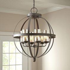 Nice Metal Globe Light Fixture | Lamps Ideas