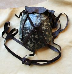 Turtle shell and deerskin bag by lupagreenwolf.deviantart.com on @deviantART