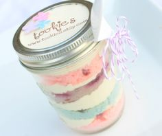 You can bake cakes in mason jars and give them away as party favors or gifts. These cake jars are also great for portion control. Here's a good tutorial on how to bake rainbow-colored cakes.  You can even bake pizzas or pies in jars. Source: Etsy User tookies