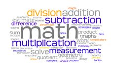 For my math bulletin board...made on wordle with all of the concepts we cover in 4th grade
