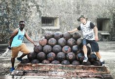 From @prfuntours Here are real Cannon balls leftovers from Spain they weight 200lbs at a firing range of 1 mile #puertorico #prfuntours #history #tourguide #tourism #touroperator #guidedtour #visitpuertorico #vacation #igers #igerspuertorico #igersoftheday #ilovepuertorico #sanjaun #hispanic #castillo #sancristobal #oldsanjuan #osj #cannon #toptags #whateverpr #backpackingpr #placespr #travel #igersoftheday #ilovepuertorico #visitpuertorico #picoftheday Experience the beauty follow us…