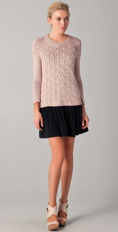Tibi Long Sleeve Sweater Dress thestylecure.com