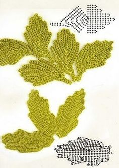 Schemes crochet leaves knitting and crochet pinterest ccuart Image collections