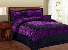 Purple Zebra Print Comforter