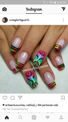 French Tips, Flower Nail Art, Yule, Hair And Nails, Nailart, Nail Designs, Beauty, Nail Design, Work Nails