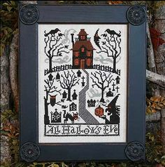 cross stitch pattern : All Hallows Eve The Prairie Schooler Book 180 halloween witch counted cross stitch diy. $9.00, via Etsy.