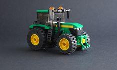 Fix John Deere Tractors 717339046883931579 - John Deere Tractor Lego Technic Truck, Lego Truck, Big Ford Trucks, Lego City Fire, Lego Ww2, Lego Machines, Micro Lego, Lego City Sets, Lego People