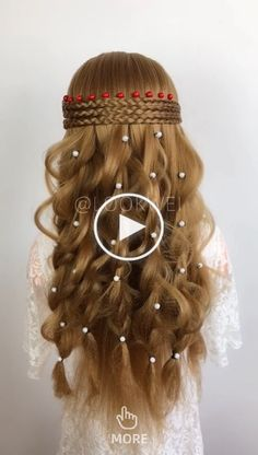 Long Box Braids: 67 Hairstyles To Upgrade Your Box Braids - Hairstyles Trends Party Hairstyles For Long Hair, Bun Hairstyles, Princess Hairstyles, Medium Hair Styles, Curly Hair Styles, Hair Upstyles, Long Box Braids, Braided Hairstyles Tutorials, Hair Videos