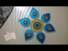 DIY - How to make beautiful rearrangeable kundan rangoli using waste box. Cat Bedroom, Bedroom Ideas, Diya Rangoli, Galaxy Cat, Cardboard Crafts, Rangoli Designs, Bead Art, Easy Diy, Diy Crafts