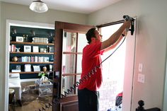 Adding Trim Around the Inside of Our Front Door (Finally) - Chris Loves Julia Chris Loves Julia, New Homes, Ads, Front Doors, Home Decor, Entry Doors, Decoration Home, Entrance Doors, Room Decor