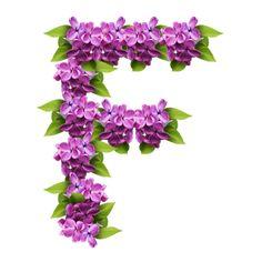 View album on Yandex. Alphabet Letters Design, Monogram Alphabet, Letter Designs, All Flowers, Purple Flowers, Letra Drop Cap, Decoupage, All Things Purple, Purple Stuff