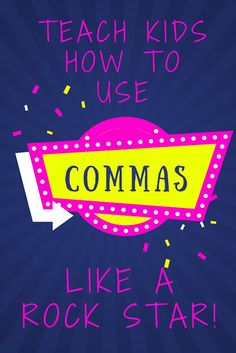 Commas are the most misused and misunderstood punctuation mark!  Help students become comma rock stars!