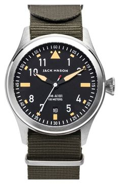 Jack Mason Brand 'Aviation' NATO Strap Watch, 42mm available at #Nordstrom