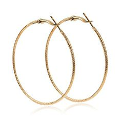 Gold Plated Basketball Wives Hoops Earrings Loops Earring Excellent