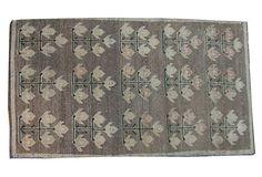 Dark Khaki Vintage Turkish Rug $599
