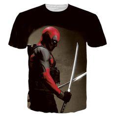 6130392e5 summer style American Comic Badass Deadpool tops tees Cool Characters  hispter T-shirt harajuku tee-shirt men women