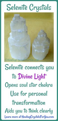 Selenite Crystals. These look like the Healing Crystal the main character uses that he accidentally corrupted