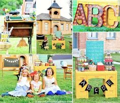 Back to School Party FULL of cute ideas & FREE PRINTABLES for teacher gifts and students! Vintage schoolhouse party via Kara's Party Ideas KarasPartyIdeas.com