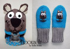 Scooby Doo Inspired Hat And Mitten Set