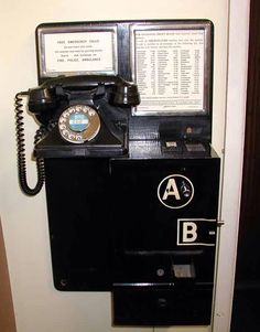 This was our telephone in the early 1960's it was just across the road from where we lived, in a red telephone box