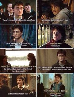 Sassy Harry Potter is sassy.