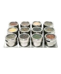 Take a look at this Stainless Steel SOHO Magnetic 12-Canister Spice Rack Set by Lipper International on #zulily today!