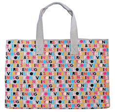 Rachel Castle SUNNY BAG   55% linen, 45% cotton woven printed mega tote bag. Fits 8 beachtowels and lots more! Machine and tumble friendly. 520 x 350 x 340 gusset $120
