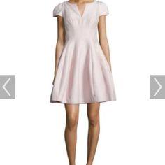 Halston Pale Pink Tulip Dress