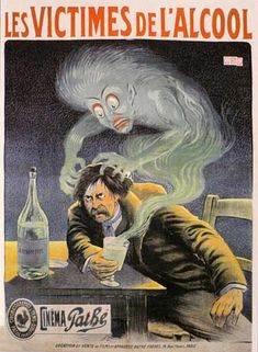 Absinthe Fact: Why Was Absinthe Banned? – Get to know Lucid Absinthe Most Popular Alcoholic Drinks, Fear Of Work, Deviant Art, Green Fairy Absinthe, Old Ads, Belle Epoque, Vintage Advertisements, Vintage Posters, Illustration Art